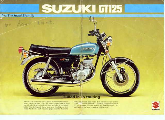 My first bike Suzuki GT125 Twin